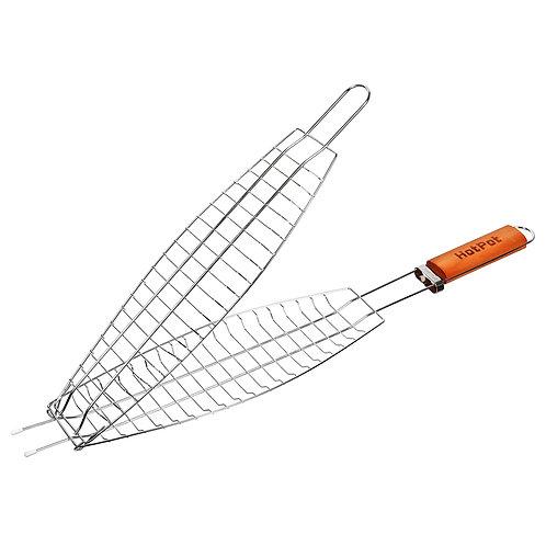 Решетка-гриль для рыбы 60(+4)х36х8-12х4
