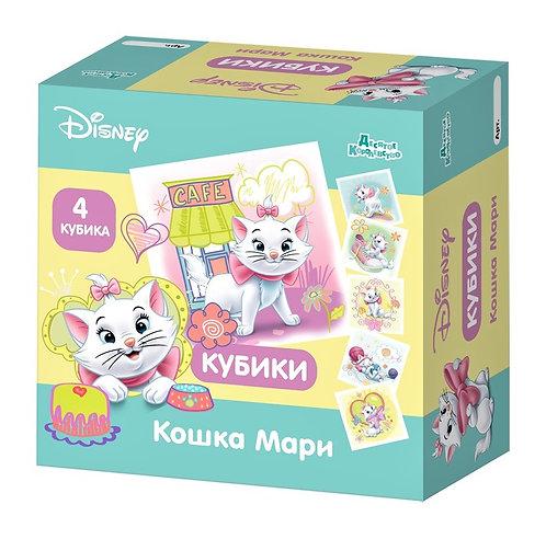 Пластмассовые кубики «Кошка Мари» 4 штуки по лицензии «Уолт Дисней»