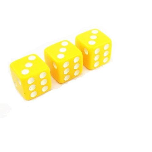 Кости игральные пластиковые, 12 мм, 1шт, цвет желтый