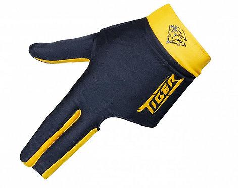 Перчатка бильярдная «Tiger» (черно-желтая) XL