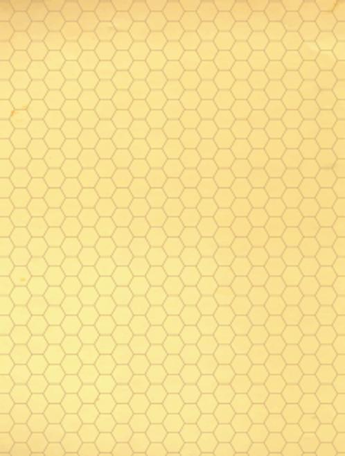 """Мат игровой ламинированный, складной  """"Старая карта"""", ГЕКСЫ"""