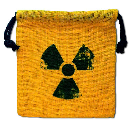 """Мешочек """"Радиация"""" для кубиков, желтый"""