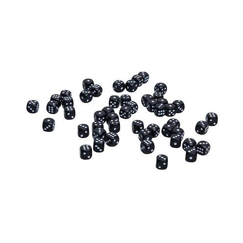 Кости пластиковые, 10мм, 1 шт, цвет черный