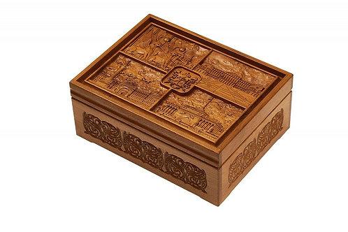 Набор покерный: 500 фишек, две колоды карт и кости в ларце из мореного дуба (Све