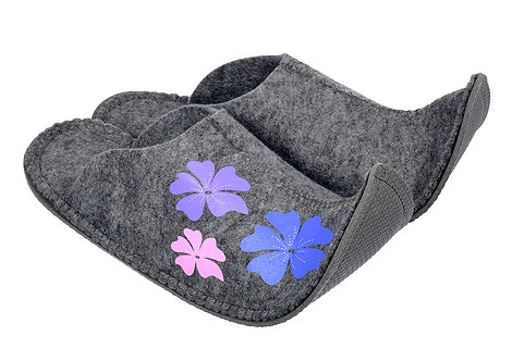 """Тапочки женские """"Цветы"""" для бани и сауны"""
