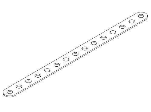 Деталь к металлическому конструктору «Планка 15 отверстий»