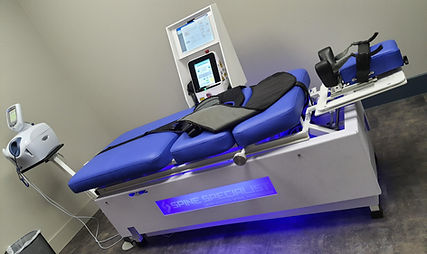 The Spine Specialist, Laser Assisted Spinal Decompression table offers a class 4 laser in addition to spinal decompression. The decompression table is designed to treat patients suffering from back and neck pain caused by degenerative or herniated lumbar and cervical discs through painless and completely non-invasive procedures. It treats disc herniations, protruding or bulging discs, spinal stenosis, sciatica or radiculopathy, pinched nerves, degenerative disc disease, facet syndrome, hip, leg, shoulder, wrist and arm pain.