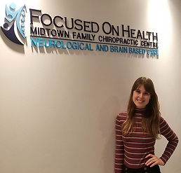 Holly is our fantastic office manager here at Focused on Health. When she is not in the office, keeping the place running, you can find her singing or performing around Toronto! But while she is in the clinic, you can expect a smiling face and warm welcome from the moment you enter until the time you step out the door to leave.