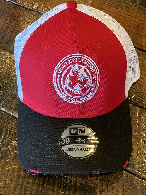 Winston's Hat New Era Distressed Red