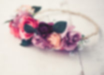 Handmade floral tiara made of red rose f