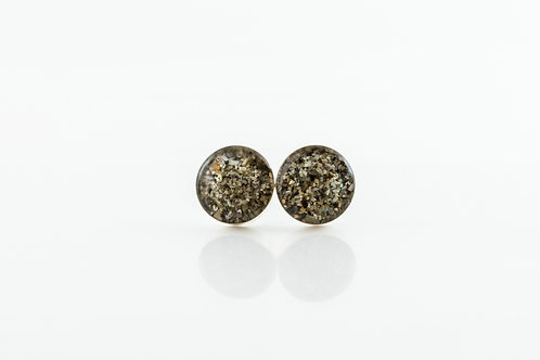 Hebridean sand sterling silver resin stud earrings