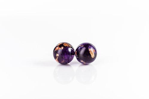 Crocus petal and rose gold sterling silver stud earrings