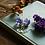 Thumbnail: Bluebell sterling silver resin sphere drop earrings