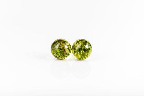 Moss sterling silver resin stud earrings