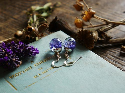 Bluebell sterling silver resin sphere drop earrings