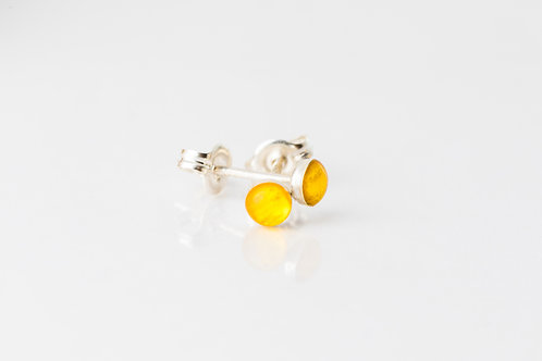 Tiniest buttercup petal sterling silver studs