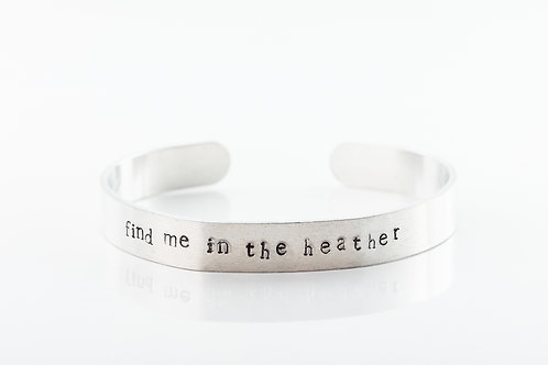 Find me in the heather aluminium bracelet