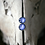 Thumbnail: Blue hydrangea sterling silver resin studs