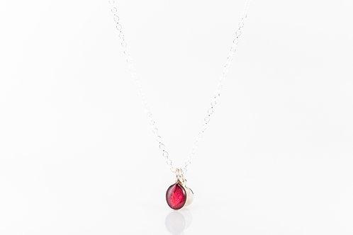 Tiny Scottish wild rose petal necklace
