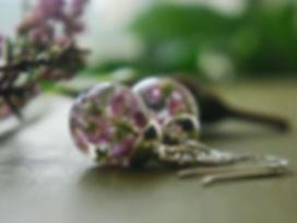 real heather jewellery, scottish heather, scottish heather jewellery, highland earrings, scottish earrings, scottish nature, nature jewellery, scotland gifts, scotland wedding, scottish wedding, pink heather, heather earrings, botanical heather earrings, real scottish heather jewellery, heather gems,
