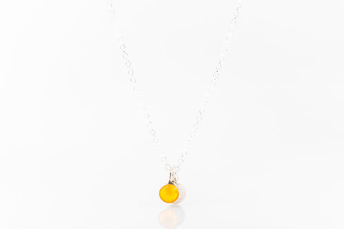 Tiny Scottish buttercup petal necklace