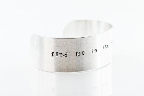 Find me in the heather aluminium bracelet