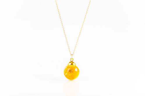 Buttercup gold fill resin sphere necklace