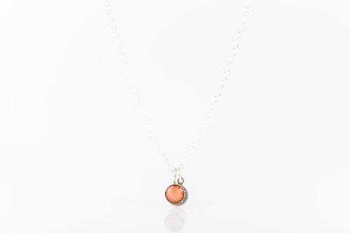 Tiny Scottish strawberry leaf necklace