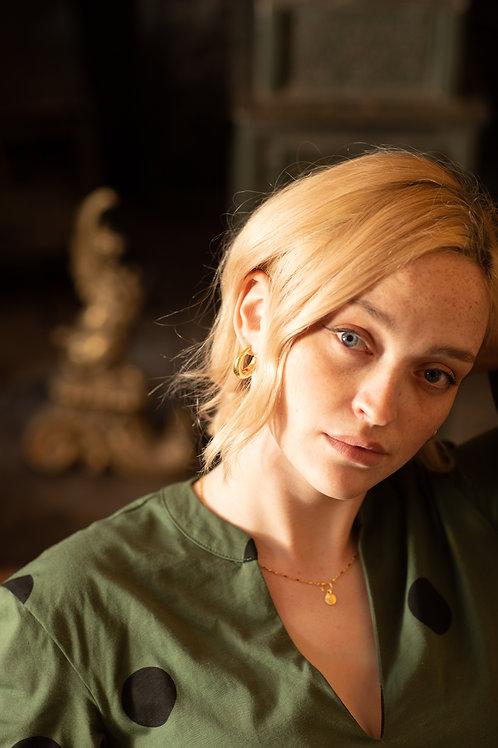 Classic chunky hoop gold vermeil earrings