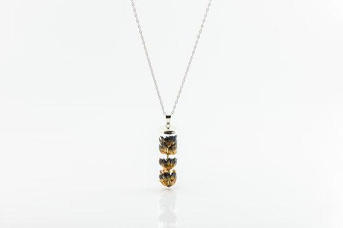 Lavender sterling silver resin cylinder necklace