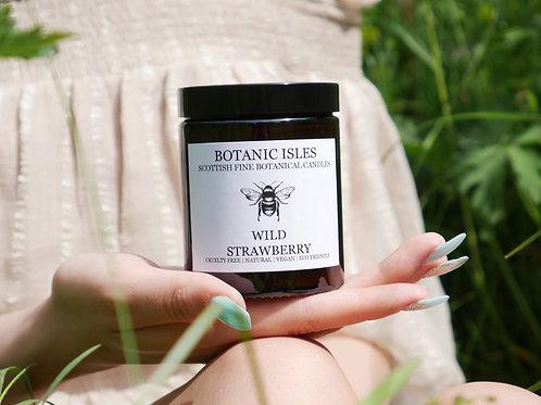 Wild strawberry single wick amber jar candle