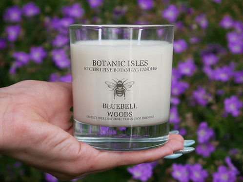 Bluebell wood double wick glass candle