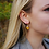 Thumbnail: Tiny buttercup sterling silver drop resin sphere earrings