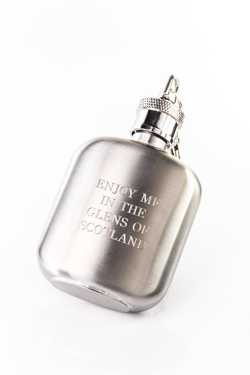 "Aluminium flask - ""Enjoy me in the glens of Scotland"""