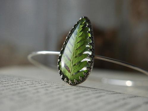 Bracken sterling silver resin bangle