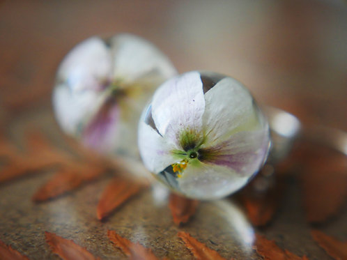 Wood anemone sterling silver drop earrings