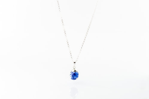 Cornflower petal sterling silver necklace