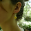 Thumbnail: Daffodil petal sterling silver resin sphere drop earrings