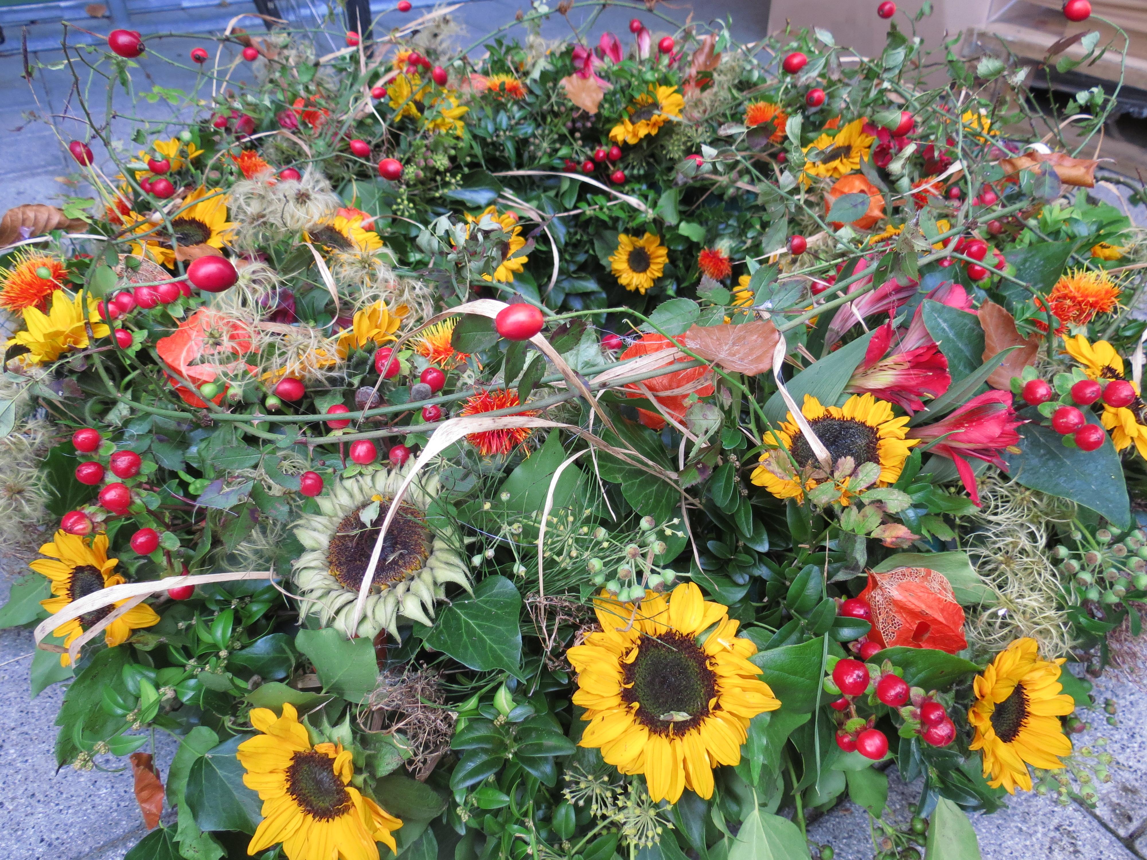 Trauerkranz Sonnenblumen Natürlich