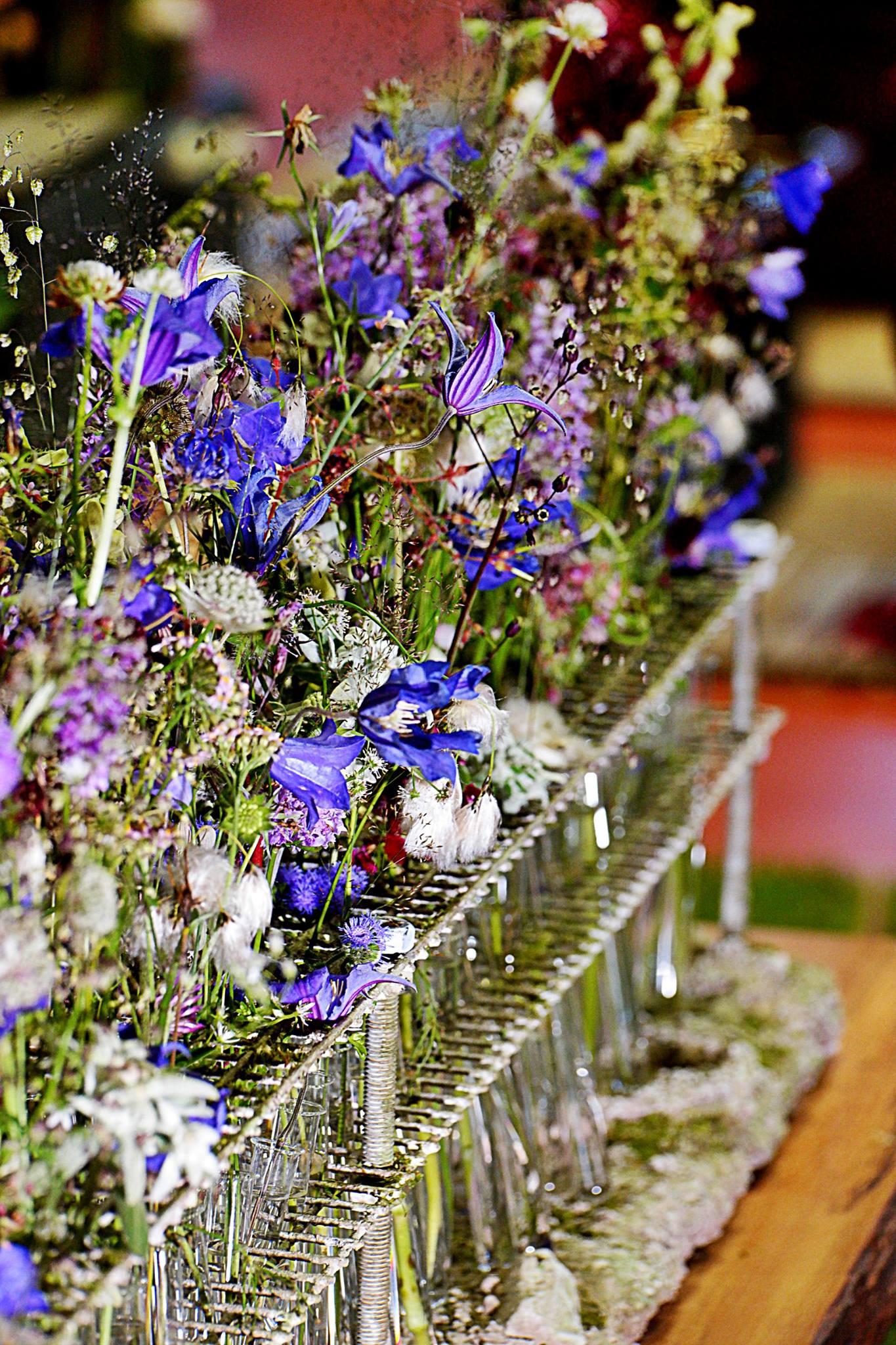 Tischdekoration blau Hochzeit Feste
