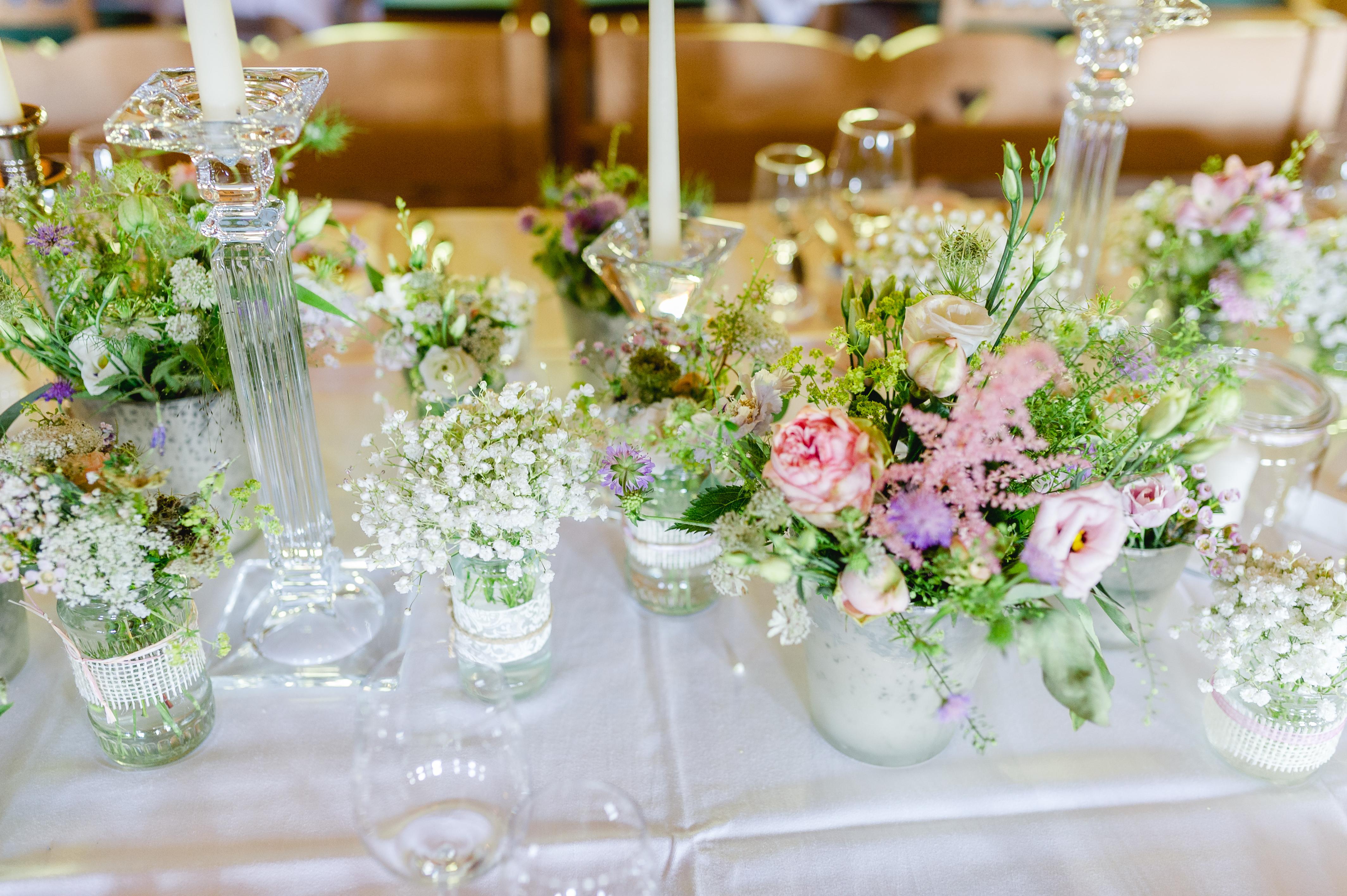 Tischdeko Hochzeit Vintage