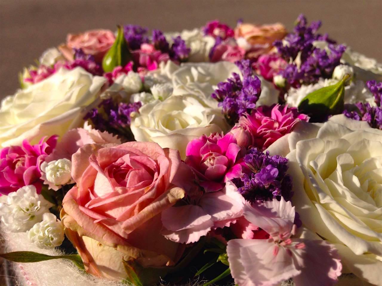 Tischdeko Rosen