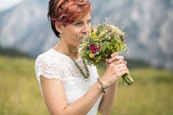 Braut Wiesenblumen