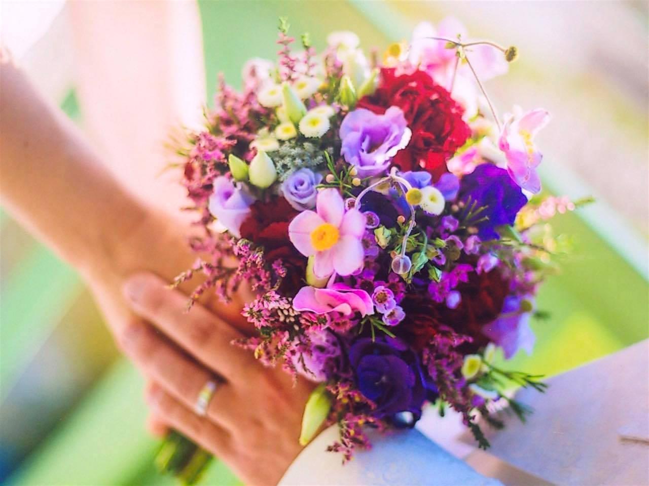 Wiesenblumen Strauß lieblich