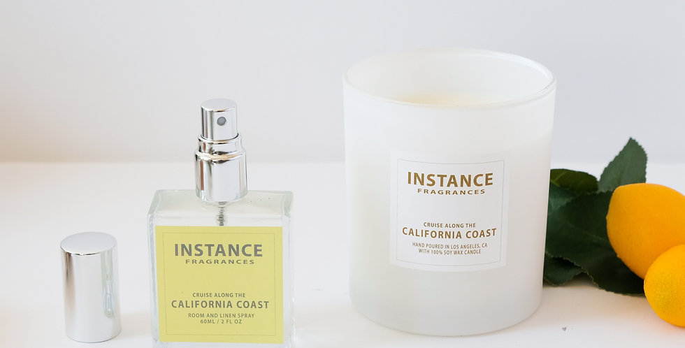 1 Large Candle + Room Spray