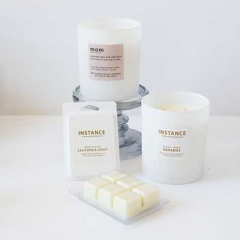13oz white ceramic scented soy candle wax melts