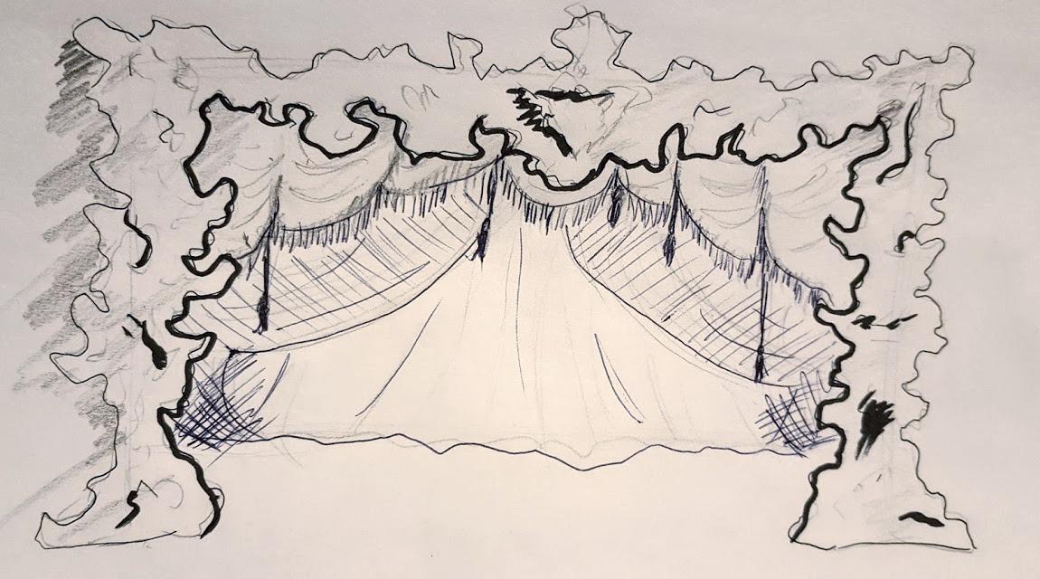 Prelim Proscenium/Backdrop Sketch
