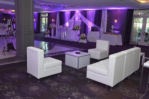 White Leather Modular Furniture Chair Piece