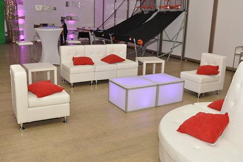 Modular Armless Sectional Sofa 3 sections