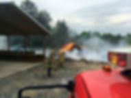 East Fire Rescue battles brush fire
